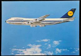 LUFTHANSA BOEING JET 747 SEE 2 SCANS - 1946-....: Moderne