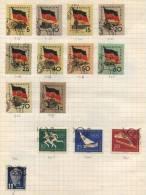 Deutsche Democratisches Republik -  14 Briefmarken - 14 Stamps - 14 Timbres - Oblitérés