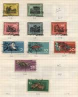 Deutsche Democratisches Republik -  10 Briefmarken - 10 Stamps - 10 Timbres - [6] République Démocratique