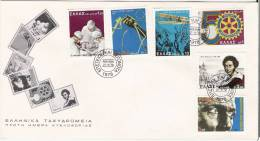 Rotary Club - Greece Envelope Stamp FDC - Rotary, Lions Club