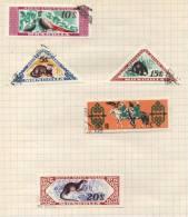 Mongolia - 5 Stamps - 5 Timbres - 5 Postzegels - Mongolie