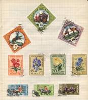 Mongolia - 8 Stamps - 8 Timbres - 8 Postzegels - Mongolie
