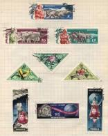 Mongolia - 9 Stamps - 9 Timbres - 9 Postzegels - Mongolie