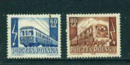 POLAND  -  1954  Railway Electrification  Mounted Mint - 1944-.... Republic