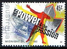 Australia 2001 Rock & Pop Music 45c Power & The Passion - Midnight Oil 1983 Used - Used Stamps