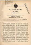 Original Patentschrift - Jules Cloché In St. Jean D´Angely , 1904 , Zerlegbarer Hut !!! - He