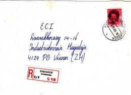 Aangetekende Envelop Met Strookje Nr. 518  ENSCHEDE Veldhoflanden Es V - Periode 1980-... (Beatrix)
