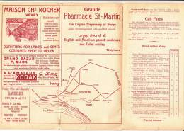 PLAN PLIABLE VEVEY ANNEES 30 BONNE CONDITIONS - MAPPA CITTA´ PIEGHEVOLE CON INFORMAZIONI TURISTICA ANNI 30 - Europe