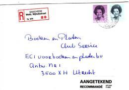 Aangetekende Envelop Met Strookje Nr. 88  ENSCHEDE Weth. Nijhuisstraat  Es WN - Periode 1980-... (Beatrix)