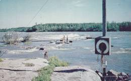 Manitoba Rapids At The Winnipeg River Looking From Sharpe's Point In Pine Falls, Canada, 40-60s - Manitoba