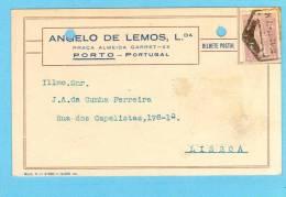 POSTAL COMERCIAL 1921 Publicidade Loja Pç Almeida Garret No PORTO. Vintage Business Postcard Portugal - Porto