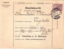 FINLANDE - VUUPURI DU 15-6-1928. - Sonstige