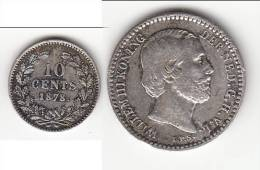 **** PAYS-BAS - NETHERLANDS - 10 CENTS 1878 WILLEM III - ARGENT - SILVER **** EN ACHAT IMMEDIAT - [ 3] 1815-… : Kingdom Of The Netherlands