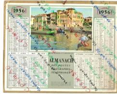 CALENDRIER GF 1956 - Almanach Des Postes - Jeune Pecheur à St Jean De Luz (64 Pyrennees Atlantiques) Imprimerie Oberthur - Calendriers