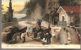 - FRANCE (06) - CPA Vierge MENTON - Visite Des Marchandises à La Douane Française - Editions Lévy N° 82 - - Menton