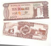 GUYANA - 10 DOLLARS 1992 UNC - P 23 F - Guyana