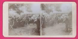 37-002 - Carte Stéréo Indre Et Loire - LE CORPS DE GARDE - La Celle St. Avant - Assemblée Intérieur Hotel Nugnez 1908 - Stereoscopic