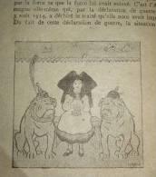ALSACE LORRAINE  HANSI   TRACT PROPAGANDE  LE FRANCAIS ET LA GUERRE    L ALLEMAGNE - 1900 - 1949