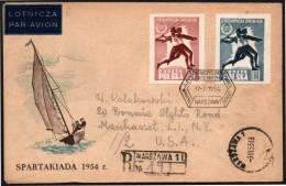 ATHLETICS - POLAND WARSAW 1954 - 2nd NATIONAL STARTAKIAD - JAVELIN THROW - REGISTERED - Atletica