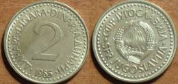 1985 - Yougoslavie - Yugoslavia - 2 DINARA - KM 87 - Jugoslavia