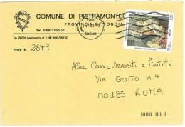 PIETRAMONTECORVINO  71038  PROV. FOGGIA  - ANNO 1999 -  LS  -  TEMA TOPIC COMUNI D´ITALIA - STORIA POSTALE - Affrancature Meccaniche Rosse (EMA)