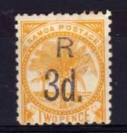Samoa - 1896 - Registration Fee (Perf 11) - MH - Samoa
