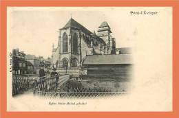 14 - Carte PRECURSEUR !! // PONT L' EVEQUE - Eglise Saint Michel ( Abside ) // CPA - Pont-l'Evèque