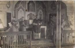 POSEN - Fotokarte - 9 Cie Gefangenenlager Schneidemühl (messe + Soldats + Prêtres En Prière) - Posen