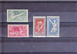 SYRIE - YVERT N°149/152 * - COTE = 168 EUROS - CHARNIERES PROPRES - JEUX OLYMPIQUES