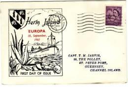 HERM ISLAND - COMMEMORATIVI  /  Cover _ Lettera  -   3 D - 1952-.... (Elizabeth II)