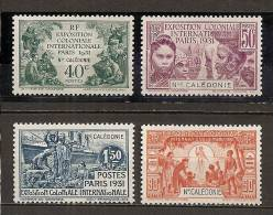 1931 - N°162 à 165*(TC) - Exposition Coloniale De Paris - Neukaledonien
