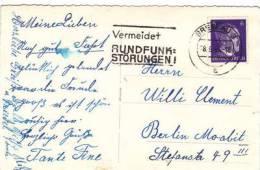 1943 GERMAN SLOGAN  ON POSTCARD - Autres