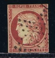 France: Yv/Mi/M Nr 6, 1849, Oblitéré / Cancelled, CV € 1750