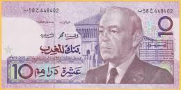 Billet De Banque Neuf - 10 Dirhams - Bank Al-Maghrib - Maroc 1987 - Marokko