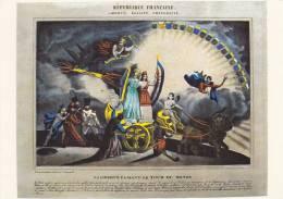 """Cp , HISTOIRE , Révolution Française , Image  Lithographiée D´intérieur , """"La Liberté Faisant Le Tour Du Monde"""" - History"""