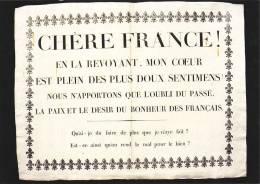 Cp , HISTOIRE , Révolution Française , Affiche Placardé Lors Du Retour En France De Louis XVIII - History