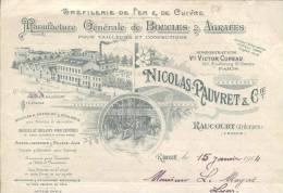 4482  - AUBE RAUCOURT 1904.- MANUFACTURE BOUCLES ET AGRAFEES - Altri