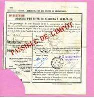 C.A.D RENNES DIRECTION 12/07/1924 Sur Formulaire Demande D´un Titre De Parcours à Demi-place - Pas Commun - Postmark Collection (Covers)