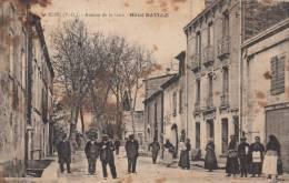 Dép. 66 - ELNE. - Avenue De La Gare - Hôtel BATTLE. Très Animée. Ed. J. Fau, Perpignan - France