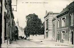 N°23614 -cpa Ham -rue Du Marché Franc Et Théâtre- - Ham