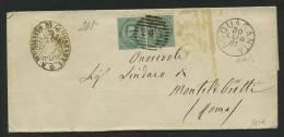 1881 COLLETTORIA  DA ACQUASANTA  ASCOLI PICENO  X MONTELIBRETTI  ROMA - 1861-78 Vittorio Emanuele II