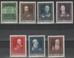 Austria 80 Years Since House Of Art Vienna Mi#878/84 1948 MNH ** - 1945-60 Neufs