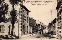 /43/  MONTFAUCON DU VELAY LE FAUBOURG HOTEL DES PLATANES ROUTE DE DUNIERES - Montfaucon En Velay