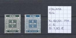 Ierland 1932 - Yv. 60/61 Postfris Met Plakker/neuf Avec Charnière/MH - 1922-37 Stato Libero D'Irlanda