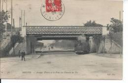 MELUN - Avenue Thiers Et L Pont Du Chemin De Fer - Melun