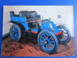 CPSM MUSEE AUTOMOBILE GLADIATOR 1902 TONNEAU 4 PLACES BLEU - Turismo