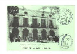 Roujan: Foire Du 1er Avril Histoires De Rire, Association Philatelique 15 Juin 1988 (12-3642) - Altri Comuni
