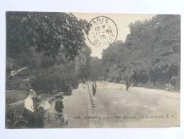 PARIS - Parc MONCEAU, L'Allée Centrale - Arrondissement: 08