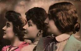 Reutlinger Artiste Cabaret 1900 - 3 Têtes Colorisées - Cabaret