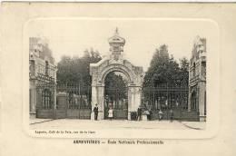 ARMENTIERES - Ecole Nationale Professionnelle -Laporte, Café De La Paix, Rue De La Gare (Peu Courante) - Armentieres